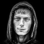 devil-angel-guy-b&w-photoshop-portrait