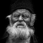 old man-black&white-Romania-photoshop